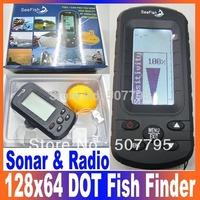 Wireless Portable TL66 LCD 3 inch display Dot Matrix Sonar Radio River Lake Sea Bed 40M Fishfinder Fish Finder drop shop