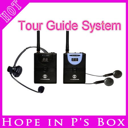 DHL FedEx Free Shipping 2.4G Digital Wireless Tour Guide System Transmitter + Receiver(China (Mainland))