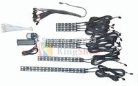 hot sales 12pcs RGB LED 5050  Flexible Motorcycle Lights Kit total 120led