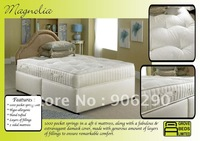 Guaranteed 100% 1000 pocket springs in a 4ft 6 mattress free custom logo 3sets free shipping