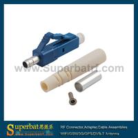 LC Fiber Optic Connector, Singlemode, Blue Housing