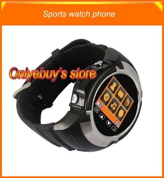 wholesales NEW Sport watch mobile phone 2pcs/lot +(2x4GB memory card gifts)@ free shipping