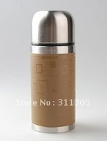480ml double wall stainless steel vacuum water bottle,480ml bullet shape vacuum flask thermoses.round.Four colors