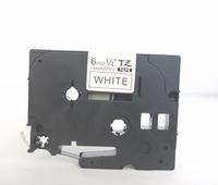 Compatible tz tape black on white 6mm tz2-211 ribbon cartridge for p touch tape / printer ribbon TZ211