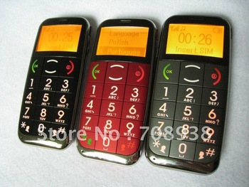 Senior Phone Decent Design Excellent workmanship C100 CE ROHS Russian Polish menu multi-language Qaulity Elderly Phone