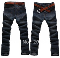 New brand fashion cotton jean long straight size29-46 blue men's jeans plus size 29-46 plus length 120cm free shipping jean06