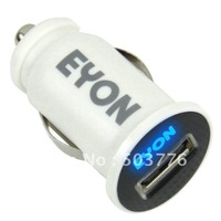 Mini 1A USB Car Charger +PC Fire-proof Material +Factory Shipping Out Directly