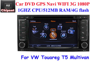 3G Car DVD GPS Navi for VW T5 MULTIVAN TOUAREG PIP sat nav Bluetooth Virtual 6-CD TV IPOD MP3