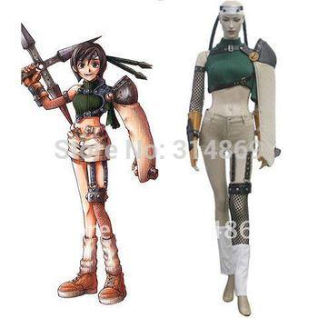 Free Shipping+Final Fantasy VII Yuffie Kisaragi Cosplay Costume