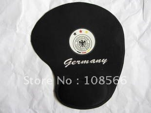 Germany national team black  soft wrist mouse pad / skidproof  mouse mat