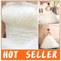 Free Shipping 2012 New Arrival Organza Five Layer Scalloped Princess Bridal Dress,Bridal Gown,Wedding Dress