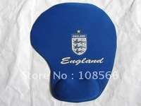 England bule computer mouse mat /  football  team soft wrist mouse pad  5pcs
