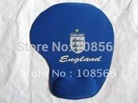 wholesale England bule computer mouse mat /  football  team thicken soft wrist mouse pad  5pcs