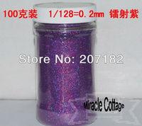 Free shpping! (6pcs/lot) best sell 1/128=0.2mm laser purple polycrystalline powder,laser powder,flash powder,glitter powder