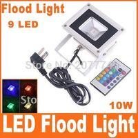 Food light 10W RGB Flash Landscape Lighting LED Flood Light Floodlight  1 PCS Free Shipping