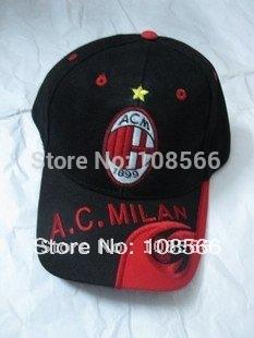 AC milan  black - red adult casual  cap / visor outdoor baseball cap / adjustable tightness cap