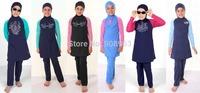 Stock wholesale children muslim swimwear girls muslim swimsuits modest swimsuits for children muslim