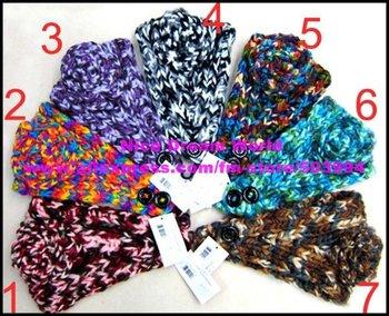 New bright Women crochet flower headband,Ladies handmade knit Flower headwrap,soft acrylic material (TD-33