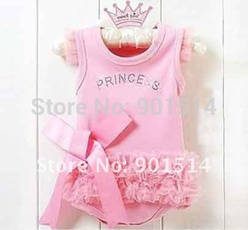 6pcs/lot 2015 New arrival Fashion Lace Girl Baby Rompers Kids Rompers wear Free shipping