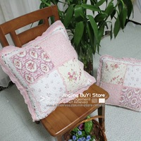 FreeShipping New Wholesale Pink Flouncing Cushion Cover/100% Cotton/Patchwork 45*45CM/Mix style/Many styles