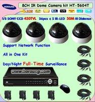 Free shipping 4ch cctv security surveillance DVR system Set HT-5604T
