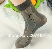 Wholesale retail men health silk stocking thin sock deodorization and absorb sweat sock 24-28cm