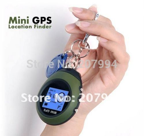 HOT! Wholesale 20pcs/lot Mini outdoor GPS Receiver + Location Finder Keychain, Sport Hiking Camping Biking Trave Essentialsl(China (Mainland))