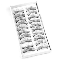 2x  10 Pair Long Black Thick fake eyelash Eye Lash false Eyelashes 1714