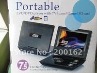 7.5 INCH Portable DVD Player with Freeview TV Recorder with game function with DVB-T functions DHL.EMS.FedEx
