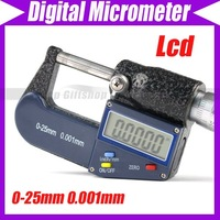 0-25mm 0.001mm LCD Electronic Digital Micrometer Meter #1957