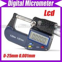 0-25mm 0.001mm LCD Electronic Digital Micrometer Meter #1957