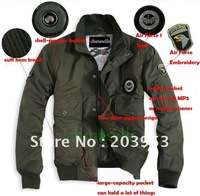 warm long-sleeves cotton Men's jacket flight jacket 101st Airborne Division Air Force One Coat