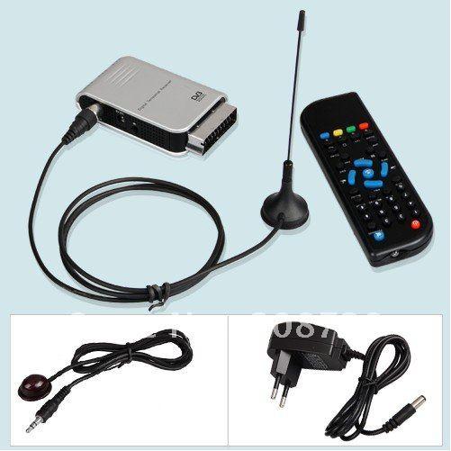 Free shipping Scart Digital TV DVB-T HDTV Terrestrial Tuner Receiver(China (Mainland))
