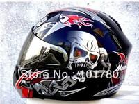Masei 815 Human Skeleton Helmet,Motorcycle Racing Helmet,Double Visors,Black color