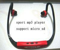 50pcs/lot Wireless Wrap Around Headphones Digital Sport MP3 Player - Fress shipping