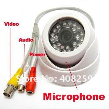 Security CCTV Color Dome Indoor CMOS Audio Camera Wide angle 3.6mm Lense Surveillance System