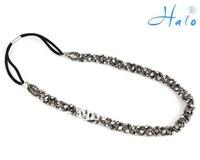 HD0009 10pcs/Lot Free Shipping!Rhinestone Diamond Elasitc Stertch Beaded Handmade  Chain Fashion Headwear