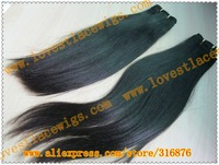 Coarse yaki chinese virgin hair natural color long hair extension in stock