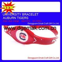 2011 fashion american University bracelet,power force bands of SOUTH CAROLINA-GAMECOCKS