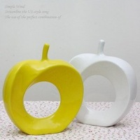 Free Shipping 2pcs/lot New Novelty Creative Ceramic Apple Artware Decoration,Christmas Decoration Birthday/Festival/Wedding Gift