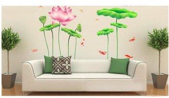 2014 Nature Style Wall Sticker Paster Bathroom Glass Sticker Decorative Paper Picture 60cm*90cm Home Decor Free shipping E189