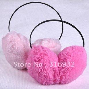 O2 Free Shipping! Christmas ear caps,Earmuffs Faux rabbit Fur Ear Warmers Muffs plush earcap