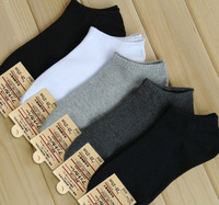 Wholesale retail  fashion men spring and autumn ankle socks Opaque  cotton sports leisurely casual 3 color option