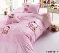 free shipping 4 pcs Cartoon bedding set home textiles bedding