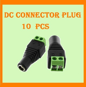 100pcs/lot 5.5/2.1mm Female CCTV UTP Power Plug Adapter Cable DC/AC 2, Camera Video Balun Connector