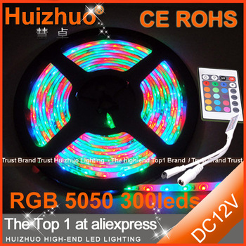 Hot sale SMD5050 60leds/m 300 LEDs DC12V nonwaterproof led strip lamp/Hight bright single color led strip
