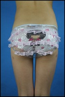 3*ADULT BABY diaper incontinence PLASTIC PANTS with Lace SLT-7T#
