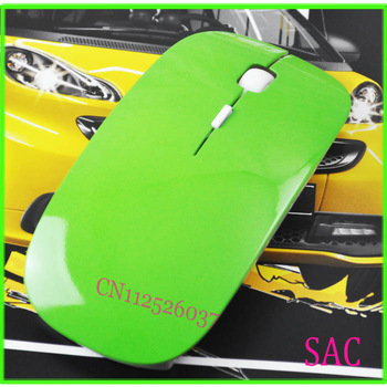 Top Selling 2.4G usb wireless mouse mice 10M working distance receiver super slim mouse witout retail package