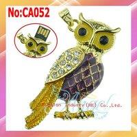 Wholesale1GB 2GB 4GB 8GB 16GB 32GB 64GB good quality jewelry Owl usb flash drive+1 year warranty #CA052