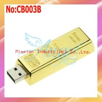 Wholesale Gold USB Flash Drive 4G|8G|16GB 32GB 64GB USB 2.0 Flash Memory Drive One year warranty #CB003B